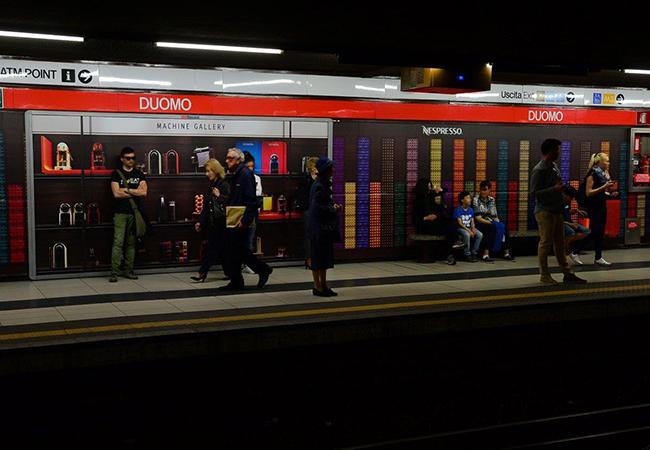 Nespresso, il caffè nella metro di Milano - Blonde Suite