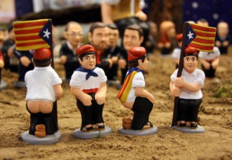 caganer, barcellona, spagna, blonde suite