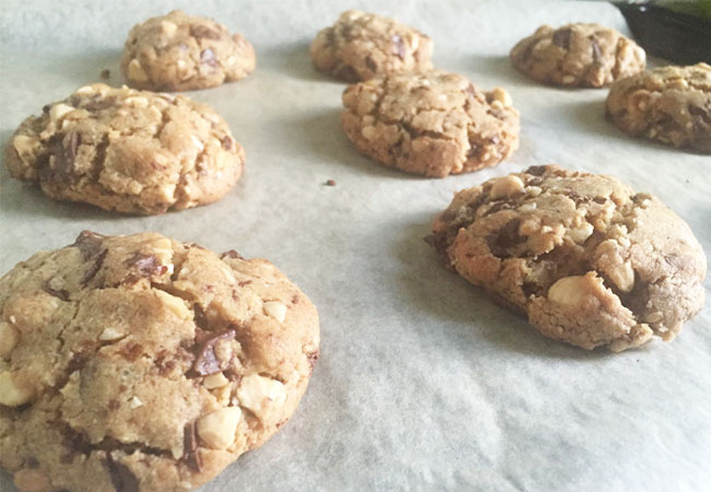 cookies cioccolato e mandorle ricetta