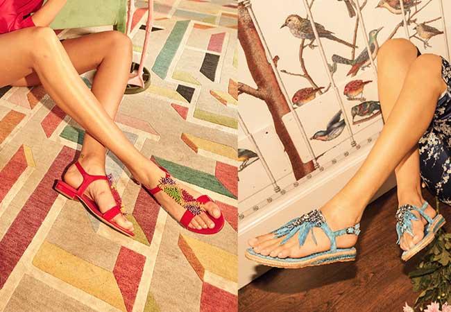 sandali bassi - apepazza - scarpe con pietre - blonde suite - tendenze primavera