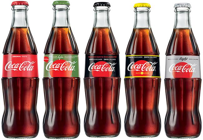 coca-cola nuovo formato meno zuccheri meno calorie