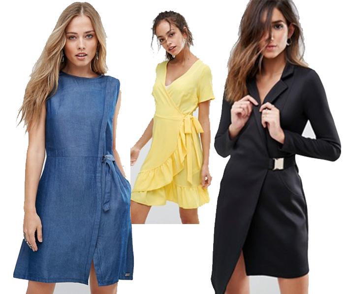 wrape dress-outfit estate-abito portafoglio