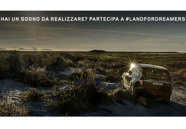 land for dreamers concorso under 30 land rover