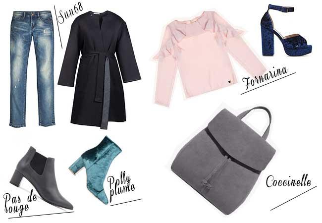 come si ci veste a ottobre - sandali velluto - tronchetti comodi - fornarina - zaino coccinelle - vestaglia sportiva - jeans skinny - sun