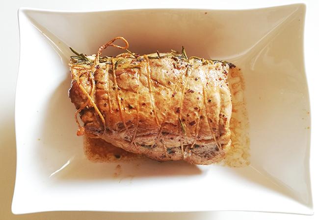 pranzo della domenica lonza al forno con patate e funghi trifolati