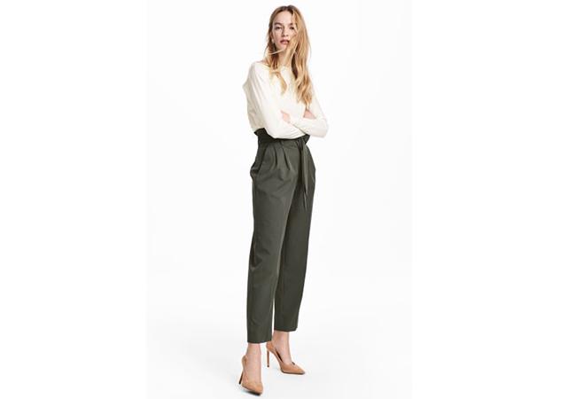 pantaloni con vita a sachetto