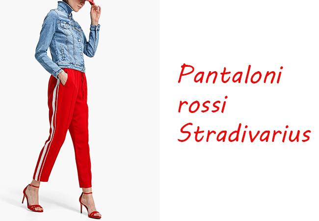 pantaloni rossi, primavera 2018