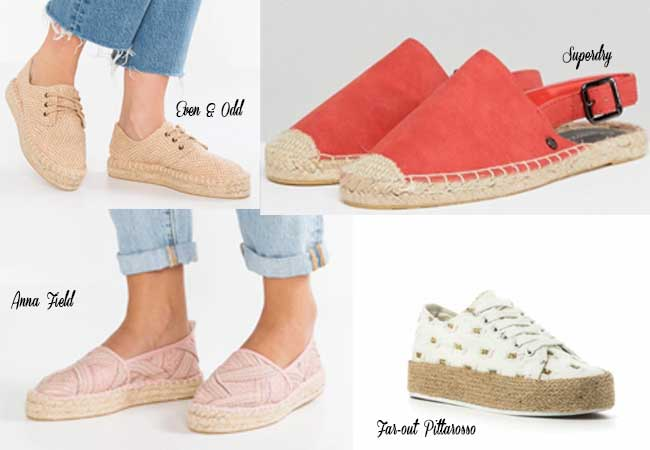 scarpe low cost sotto i 30 euro primavera estate espadrillas