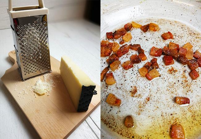 carbonara ricetta tradizionale guanciale e pecorino cucina italiana piatti formaggio