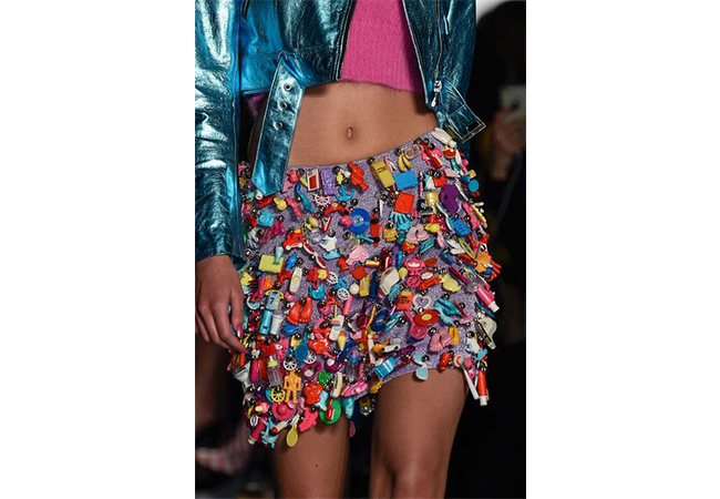 jeremy scott 2016 applicazioni sui vestiti fashion moda abiti