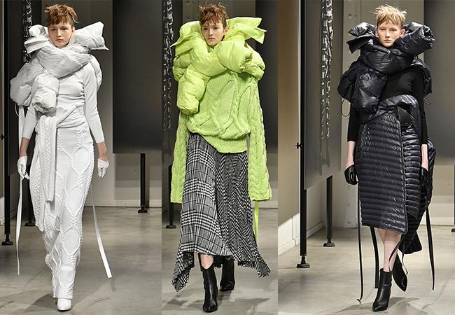 sciarpa passerelle inverno freddo accessori moda
