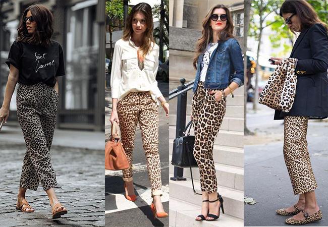 pantaloni animal print
