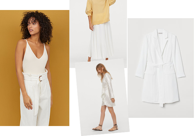 look bianco h&m total white stile tendenza