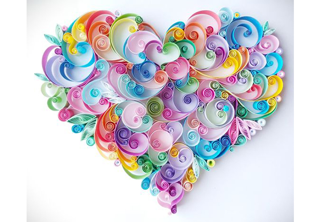 quilling cuore