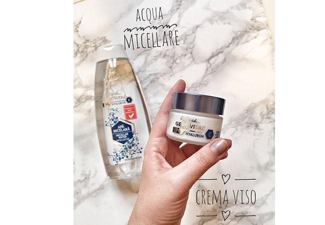 crema viso acqua micellare hyaluron C gerovital